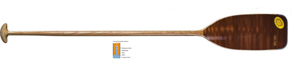 Dřevěné pádlo pro kanoe a raft