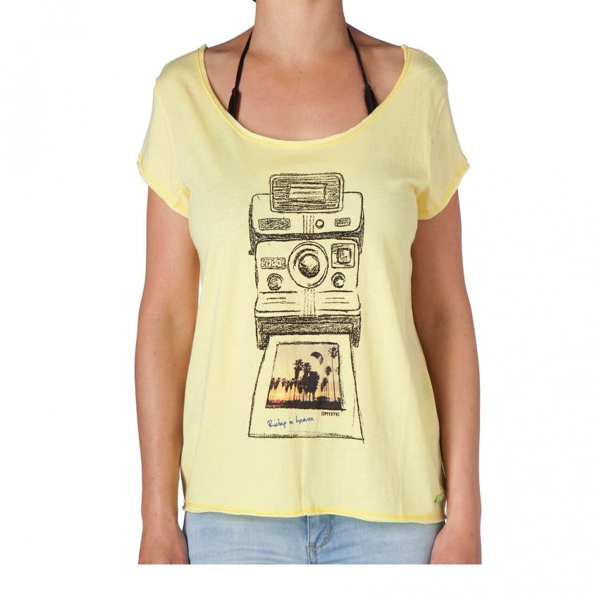 Freeze Frame - dámské triko Mystic, krémově žluté