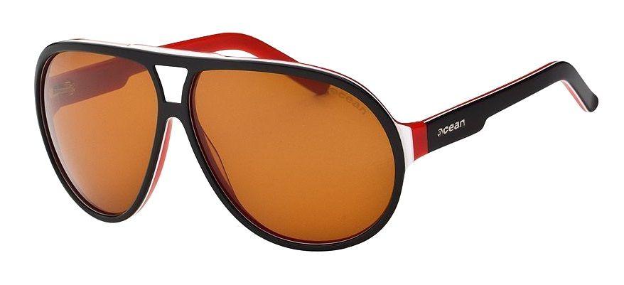 Ocean Jeri - sluneční brýle, Black White Red