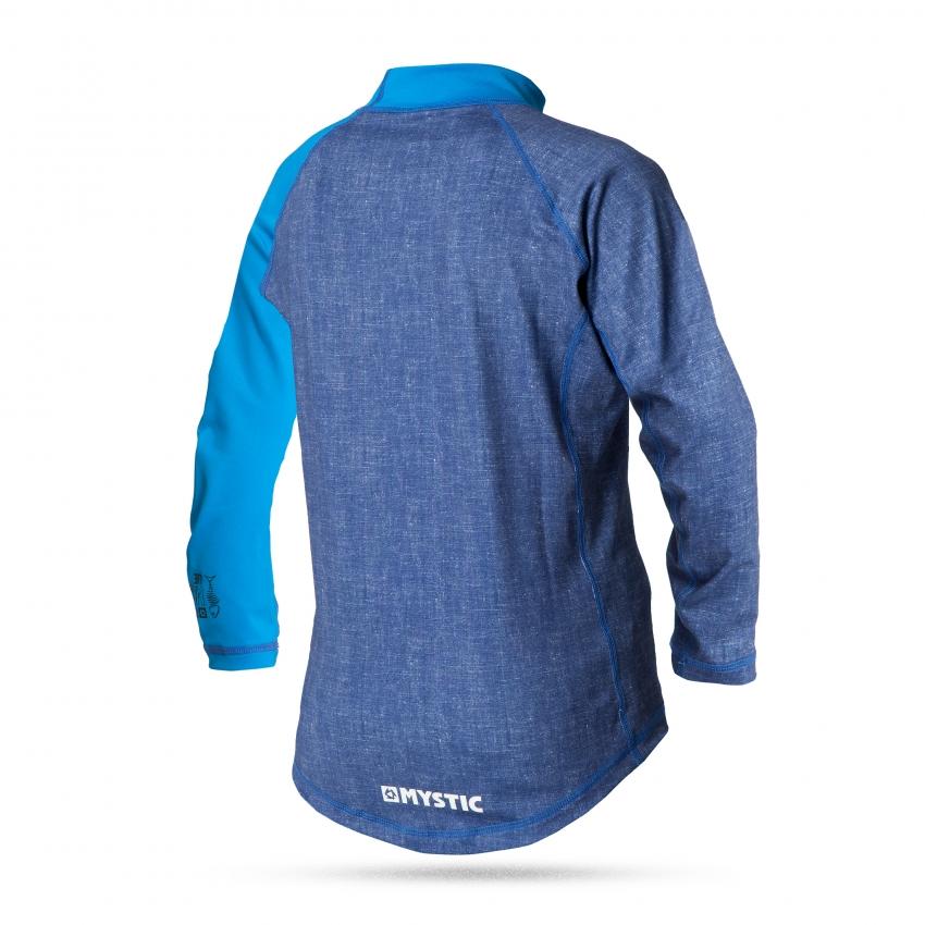 Star Rash Kids - dětské lykrové triko s dlouhým rukávem, modré