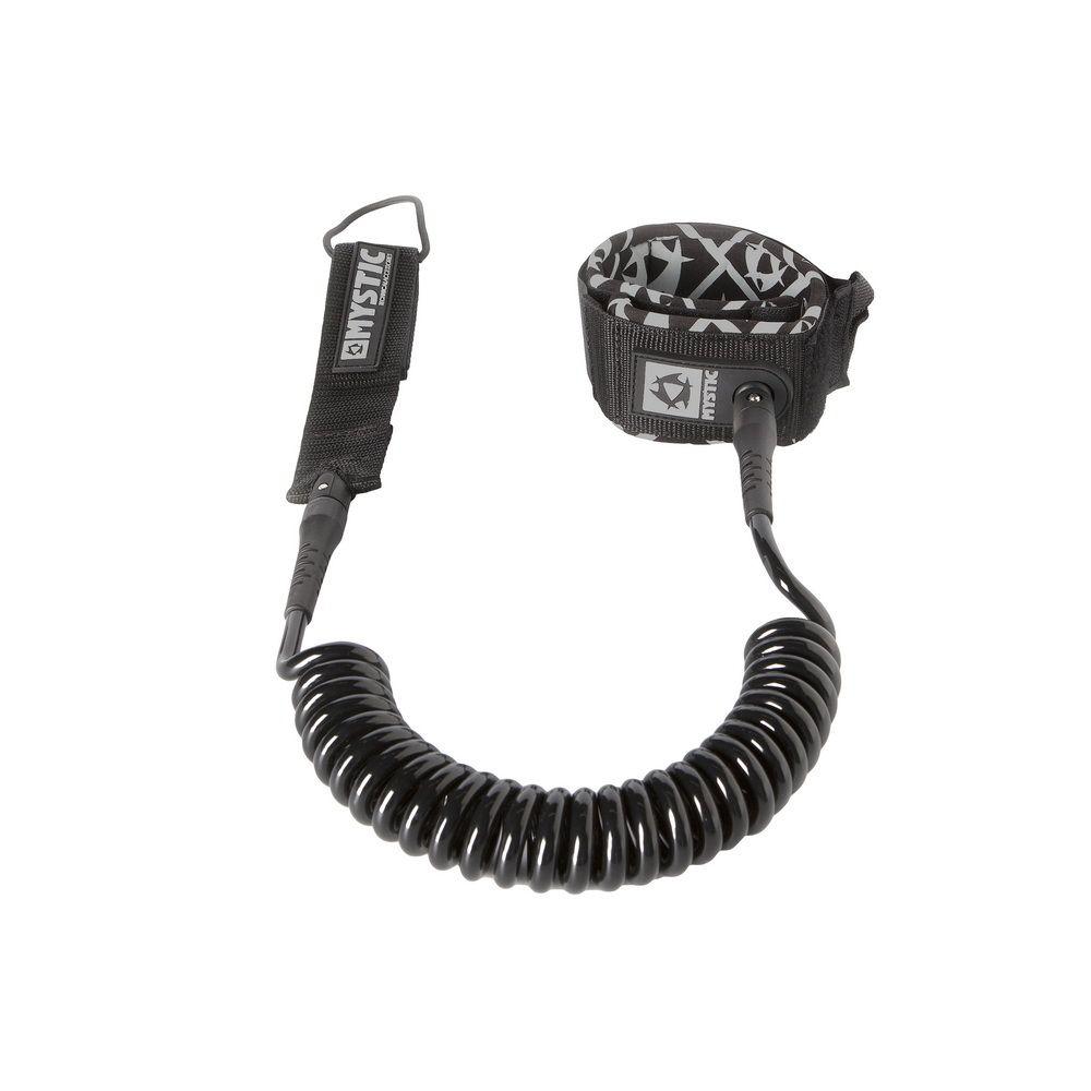 Coiled Leash 8ft - bezpečnostní spirálová šňůra Mystic, černá
