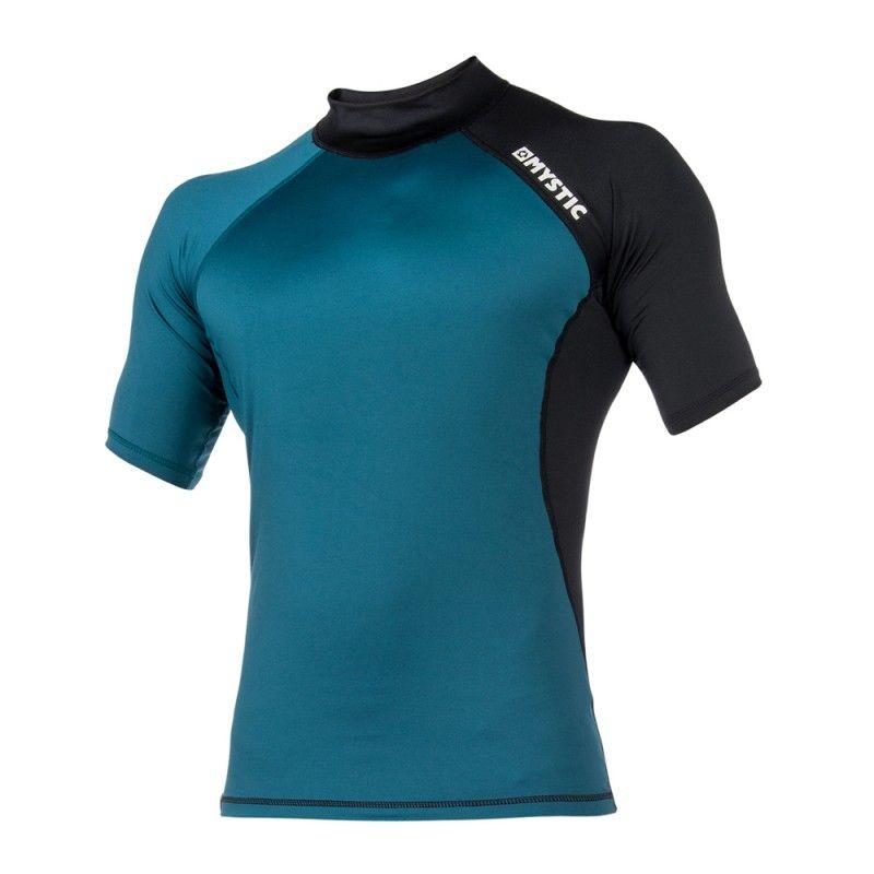 Crossfire Rashvest - lykrové triko krátký rukáv, Teal