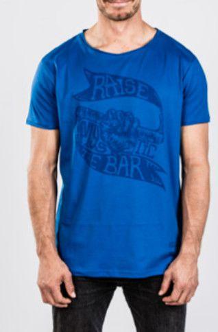 Waxed - pánské triko, modré