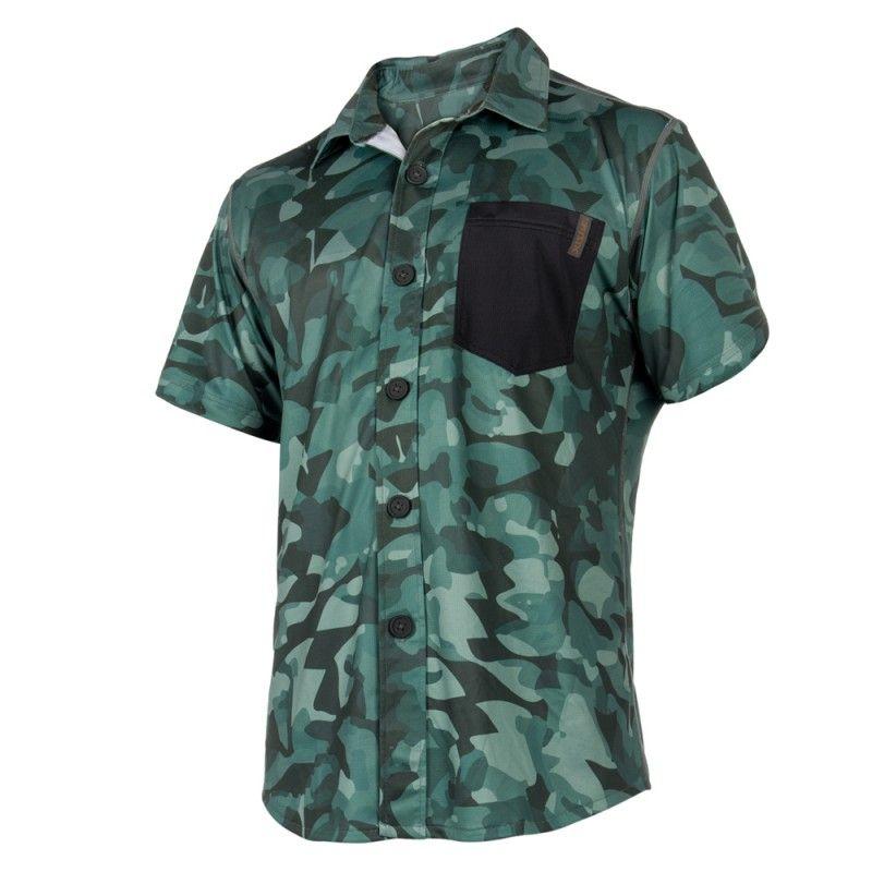 Shred Blouse Quickdry - pánská rychloschnoucí košile, Green Allover